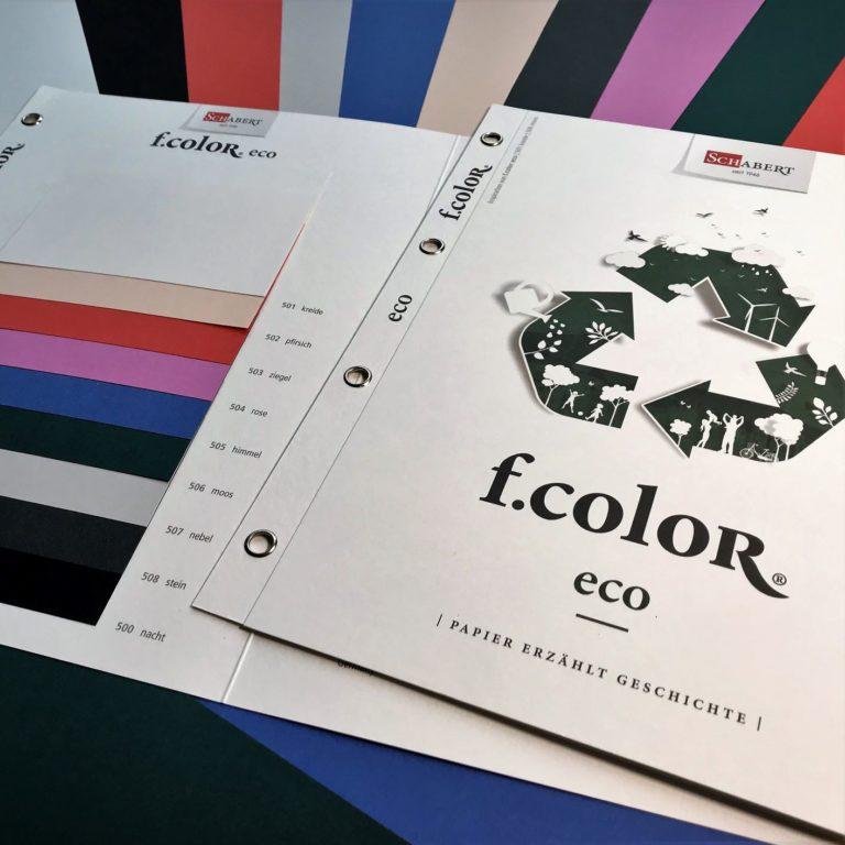 "Neue Kollektion ""f.color eco""."