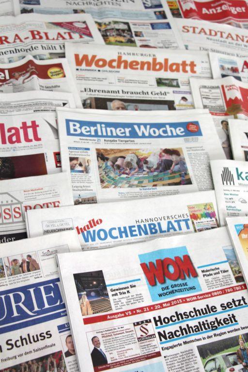Mehrere kostenfreie Anzeigenblätter und Wochenzeitungen sind heute auch im Internet vertreten. Foto: BVDA