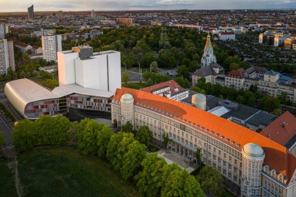 Heutiger Gebäudekomplex der Deutschen Nationalbibliothek in Leipzig. Foto: Eric Kemnitz