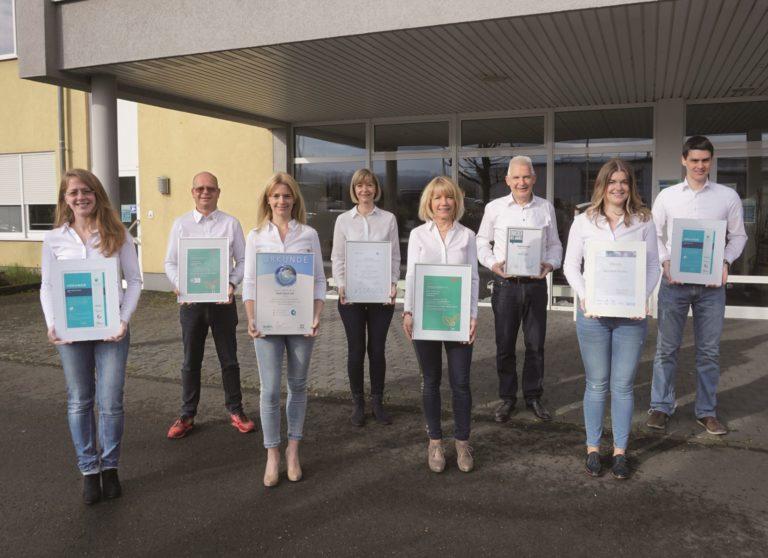 Mitarbeitende aus dem Familienbetrieb. Foto: Krupp Verlag