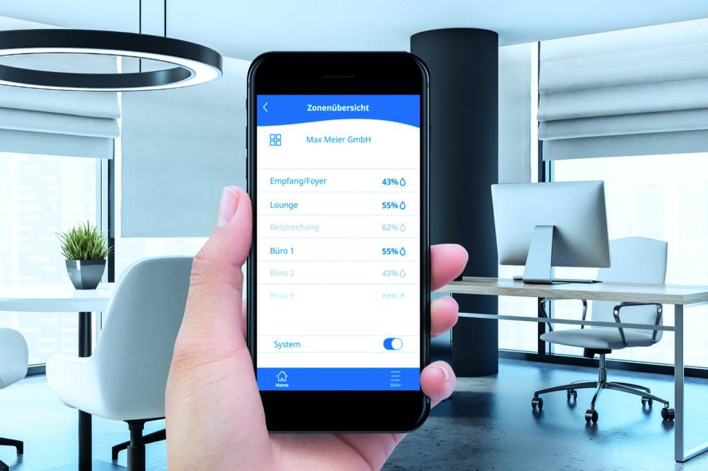 "Mittels ""HumiLife"" kann jeder Raum individuell per App gesteuert werden. Foto: Condair Systems/denisismagilov, stock.adobe.com"