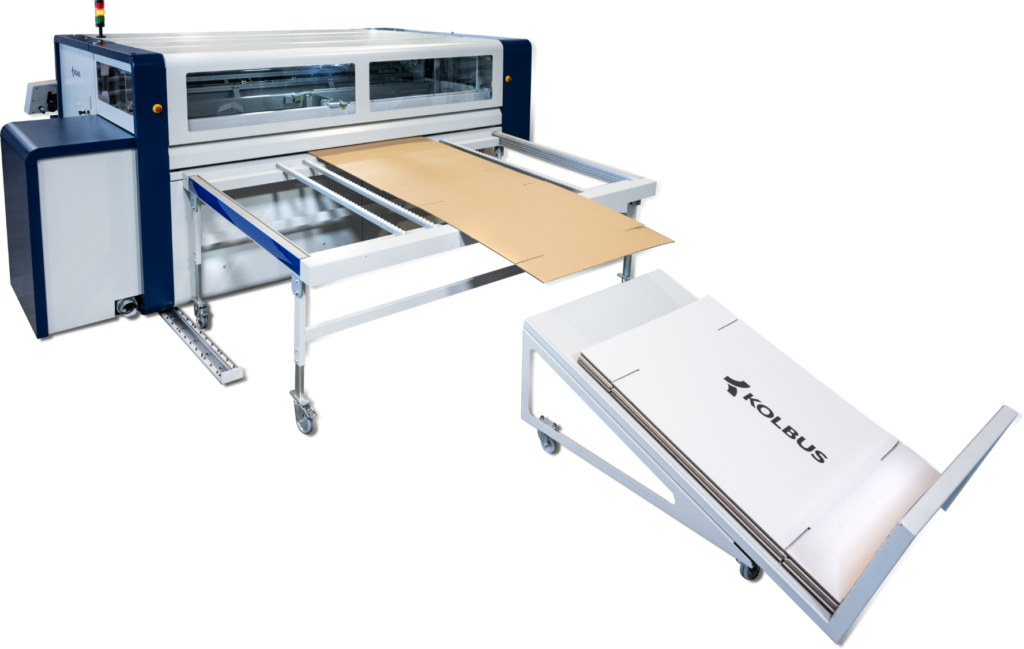 "Neues Modell ""AutoBox AB 310"" mit Digitaldruck-Modul. Foto: Kolbus"