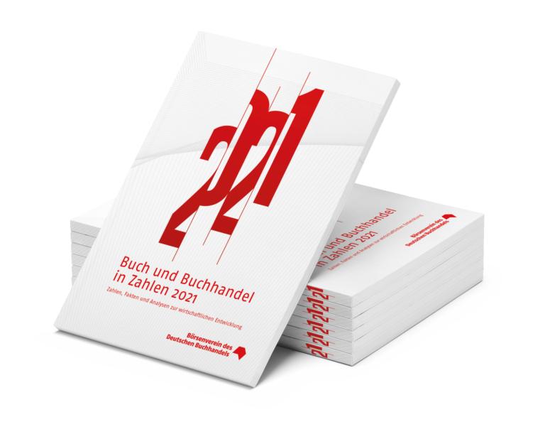 """""""Buch und Buchhandel in Zahlen 2021"""", Börsenverein des Deutschen Buchhandels e.V., Frankfurt am Main 2021, 156 Seiten, Print 44,50 Euro (inkl. MwSt., zzgl. Versand), E-Book (PDF) 39,50 Euro (inkl. MwSt.), ISBN 978-3-7657-3332-1 (Print), ISBN 978-3-7657-3333-8 (PDF), MVB-Verlag, 2021. Foto: Börsenverein"""