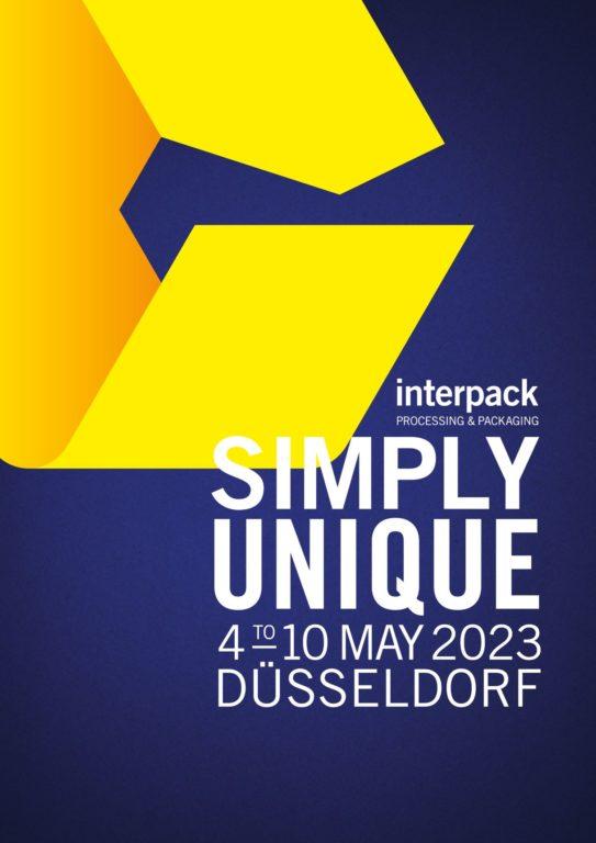 Neuer Werbeslogan der Interpack-Messe. Grafik: Messe Düsseldorf