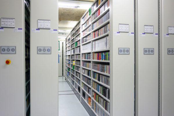 Elektronische Datenträger in einer Leipziger Magazinetage. Foto: DNB